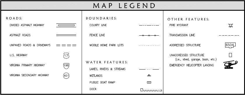 Map Book Legend