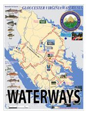Waterways text over map of Gloucester